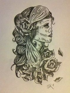 Gypsy sugar skull tattoo.. too hard for me but its gorgeous