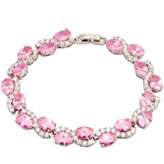 Find More Charm Bracelets Information about Super Noblest / Luxury Sparkling Pink Cubic zirconia 18K white gold Bracelets & bangles fashion jewelry 19.5cm 7.67 inch B297,High Quality jewelry keychain,China jewelry trunk Suppliers, Cheap jewelry parts from Dana Jewelry Co., Ltd. on Aliexpress.com