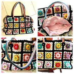 granny square flowering bag