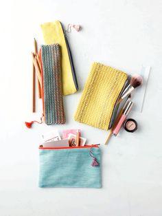 DIY: crochet zipper pouch
