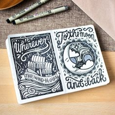 """Beautiful lettering and illustration by @magda_kon - #typegang"""