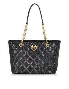 80c0c1a0770f Michael Kors Fulton Quilted Black Leather Large EW Tote-  348 on Forzieri  Michael Kors Fulton