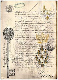 A While Back I Received a    Beautiful Antique French Document dating 1848    and some French Money Orders    with Wonderful Typograp...