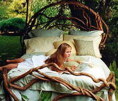 a-faerietale-of-inspiration: laura spector . . . rustic beds