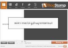 How I Use Blogstomp Everyday. Video tutorial for photographers and bloggers.