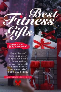 If you're ready to brighten your special someone's day, look no further than this curated selection of our most popular, fan-favorite fitness equipment, sure to please. Regardless of fitness goals or budget, we have a little something for everyone, with amazing fitness gifts under $200, $500, and $1000. #sunnyhealthfitness #