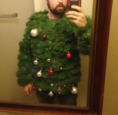 The 'I Am A Christmas Tree' Ugly Christmas Sweater Merry Christmas, ho ho ho!;-)