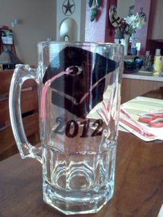 Graduation beer mug sister made me! Psychology, Graduation, Psych, Psicologia, College Graduation