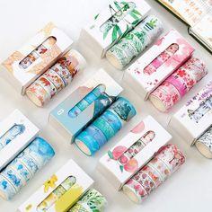 "Universe of goods - Buy Pcs/Box Beautiful Flower washi tape DIY decoration scrapbooking planner masking tape adhesive tape label sticker stationery"" for only USD. Washi Tape Planner, Washi Tape Set, Masking Tape, Duct Tape, Scrapbooking, Diy Scrapbook, Bullet Journal Washi Tape, Cute School Supplies, Decorative Tape"