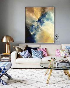 SALE!!! Large Abstract Oil Painting Texture Painting On Canvas by Julia Kotenko #abstractart