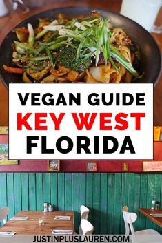 Vegan meals in Key West Florida? No problem! Key West and the Florida Keys have lots of vegan and vegetarian dining options. Here are the best vegan restaurants in Key West that you'll love! Key West Restaurants, Best Vegan Restaurants, Chicago Restaurants, Key West Florida, Florida Keys, Fl Keys, Vegan Meals, Vegan Recipes, Vegan Vegetarian