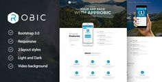 Robic - Multipurpose Landing Page Template . Robic has features such as High Resolution: Yes, Compatible Browsers: IE9, IE10, IE11, Firefox, Safari, Opera, Chrome, Compatible With: Bootstrap 3.x, Columns: 4+
