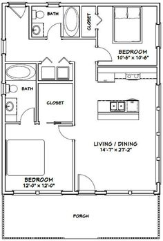 The Plan, How To Plan, Br House, Tiny House Living, Plan Garage, 2 Bedroom House Plans, Tiny House 2 Bedroom, 2 Bedroom House Design, 2 Bedroom Apartment Floor Plan