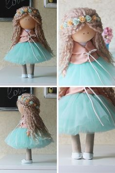 Love doll Handmade blonde green colors by AnnKirillartPlace