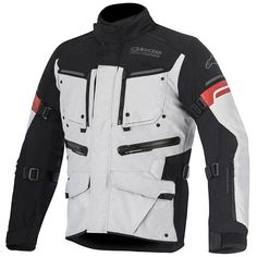 70bb1d9ef68 Alpinestars Valparaiso 2 Drystar Textile Jacket - Light Grey   Black   Red  from the UK s leading online bike store. Free UK delivery over and easy  returns ...