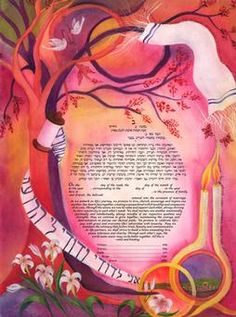 Two Tablets Ketubah by Veronique Jonas - Ketubah.com