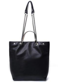 Black Single Metal Strap PU Bag 31.33