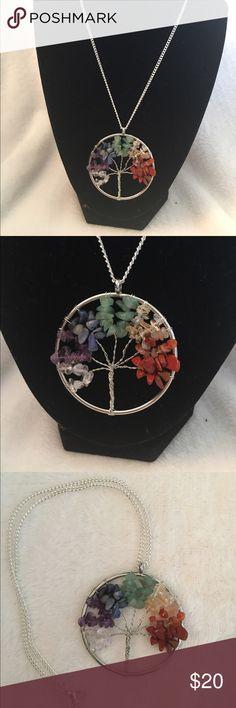 Chakra Tree of Life Necklace Beautiful Chakra Tree of Life Handmade Necklace. 16 inch chain Jewelry Necklaces