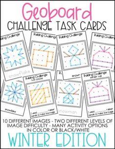 Geoboard Challenge Task Cards - Winter1