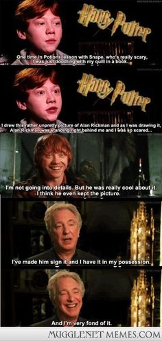 Alan Rickman and Rupert Grint interaction