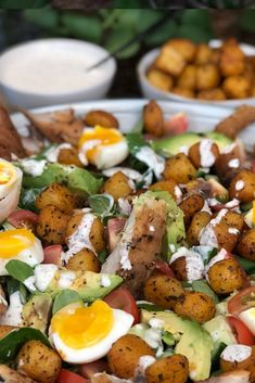 Happy Foods, Cobb Salad, Ham, Potato Salad, Food And Drink, Potatoes, Ethnic Recipes, Lunches, Hams