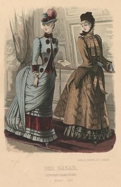 Der Bazar 1884  I love the outfit on the left.