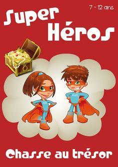 chasse au trésor super-héros Diy Invitations, Birthday Invitations, Games For Kids, Diy For Kids, Super Hero Games, Rainy Day Activities, Funny Games, Boy Birthday, Superhero