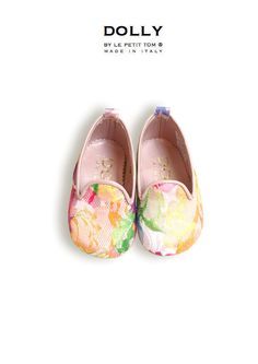 DOLLY by Le Petit Tom ® BABY Smoking Slippers 8SL rosa pink lace
