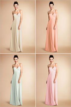 {Donna Morgan Bridesmaid Dresses} I like the top right (if it was short) @moxiethrift on etsy Stevenson