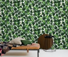 Discover the wallpaper Rio Green, designed by ByMalevik. High-detailed palm leaves in beautiful green colours. Green Wallpaper, Wallpaper Ideas, Green Colors, Colours, Creative Walls, Animation Film, Shag Rug, Wall Murals, Design Trends