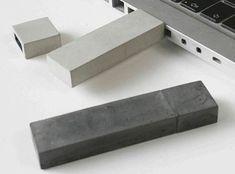 Concrete USB sticks (Kix Berlin) Probably not going to replace plastic.