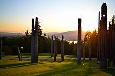 Burnaby Mountain Park Totem Poles