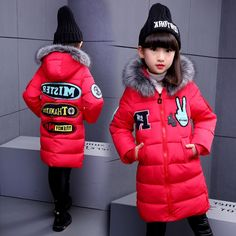 28.82$  Buy now - https://alitems.com/g/1e8d114494b01f4c715516525dc3e8/?i=5&ulp=https%3A%2F%2Fwww.aliexpress.com%2Fitem%2FHigh-Quality-Children-Warmer-Winter-Kids-Girl-Imitated-Parka-Down-Jacket-With-Fur-Hood-Letter-Print%2F32784583289.html - High Quality Children Warmer Winter Kids Girl Imitated Parka Down Jacket With Fur Hood Letter Print Winter Girl Coat Outerwear 28.82$