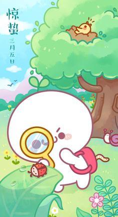 Cute Pastel Wallpaper, Kawaii Wallpaper, Pretty Art, Cute Art, Anime Angel Girl, Chibi Characters, Cartoon Background, Dibujos Cute, Kawaii Cat