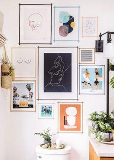 Diy wall decor 443956475772067016 - DIY Washi Tape Gallery Wall – Honestly WTF Source by arowing Diy Room Decor, Living Room Decor, Bedroom Decor, Home Decor, Wall Art Bedroom, Gold Bedroom, Bedroom Ideas, Dining Room, Bedroom Wallpaper