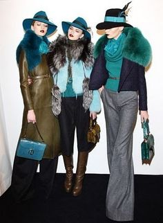 Gucci at Milan Fashion Week February 2011 Mode Chic, Mode Style, Style Me, Love Fashion, Womens Fashion, Fashion Trends, Milan Fashion, High Fashion, Merian