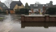 Flood warnings in place after Easter rain and snow -  Flood warnings in place after Easter rain and snow                                                                                                3 April 2018                                    Image caption                                      Residential streets like this one in Station Road West Hallam Derbyshire experienced flooding on the Bank Holiday                                There is a risk of flooding across England with…