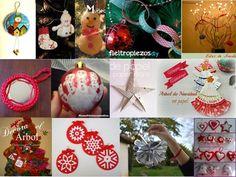 Adornos DIY para el árbol de navidad | Aprender manualidades es facilisimo.com