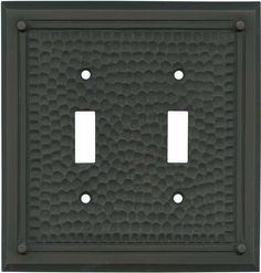 Hammered with Nails Oil Rubbed Bronze Switch Plates, Outlet Covers, Wallplates Switch Plate Covers, Light Switch Plates, Light Switch Covers, Modern Farmhouse Lighting, Nail Oil, Light Crafts, Outlet Covers, Oil Rubbed Bronze, Home Lighting