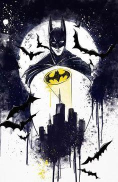 Batman Arkham City, Batman Und Catwoman, Batman Arkham Knight, Im Batman, Gotham City, Batman Painting, Batman Drawing, Batman Artwork, Batman Poster