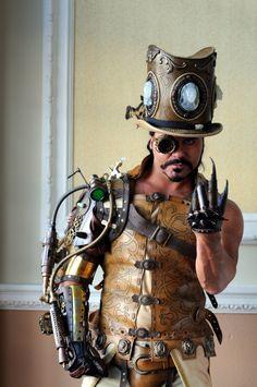 Steampunk man wants your soul.