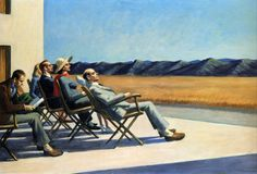 Edward Hopper - People In The Sun, 1960, oil on canvas