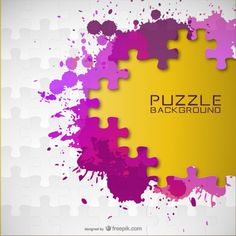 Vector paint splash puzzle background
