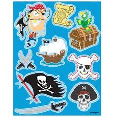 Planches d'autocollants pirate carte au trésor pour l'anniversaire de votre enfant - 2,1€