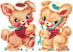 Playful Bunnies Nursery Decals for Cribs