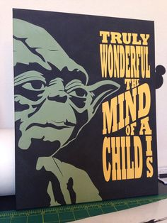 Hand Painted Canvas Art Yoda Truly wonderful the by AllysCustomArt Hand Painted Canvas, Diy Canvas, Canvas Art, Star Wars Nursery, Star Wars Room, Star Wars Painting, Diy Painting, Star Wars Classroom, Cuadros Star Wars