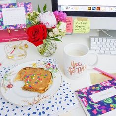 """When in doubt, put sprinkles on your toast and give yourself a pep-talk, because """"YOU GOT THIS!"""" ☕️ #Monday #iloveABD"""