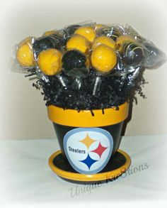 Pittsburgh Steelers Pot-of-Cake Pops