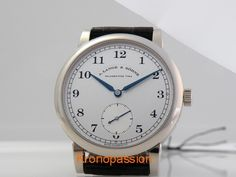 A Lange and Sohne 1815 White Gold 40mm $18000 on eBay    Is there anything more beautiful than a Lange?  I think not.  This is subtle perfection.