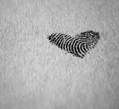 Two Thumbprints Heart  Love this idea for a tat...could be a mother&daughter, 2 sisters, 2 lovers